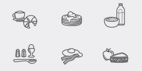eps food icons pack