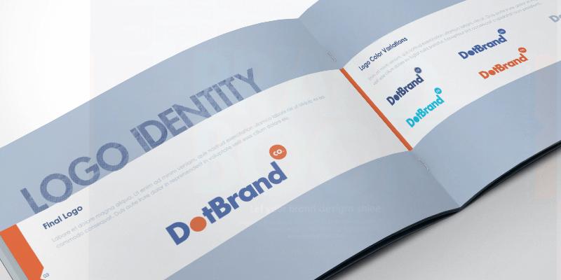 free indesign brand guidelines mockup