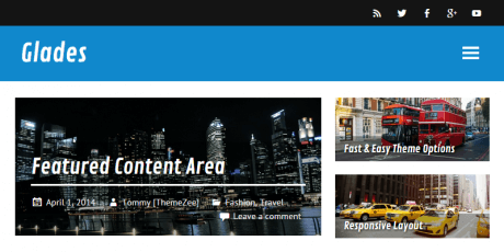 free magazine wordpress theme glades