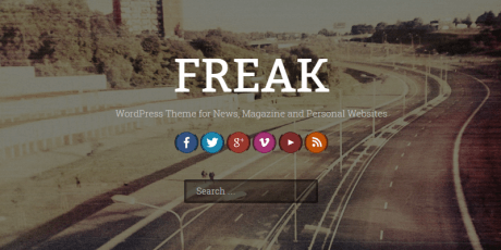 free minimal parallax wordpress theme