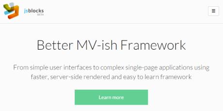javascript mv web app framework