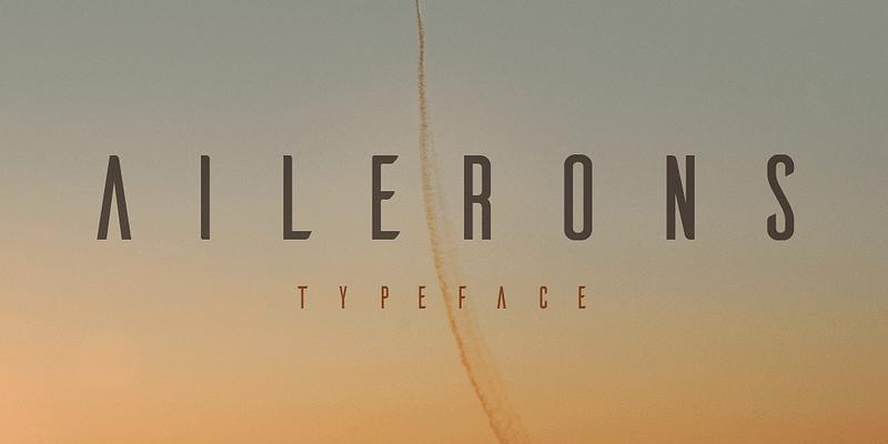 sharp 1940s inspired typeface
