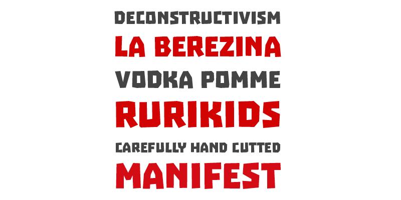 soviet inspired bold typeface