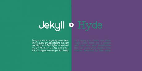 two style elegant typeface