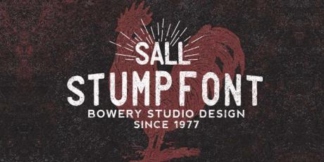 vintage stamp font family