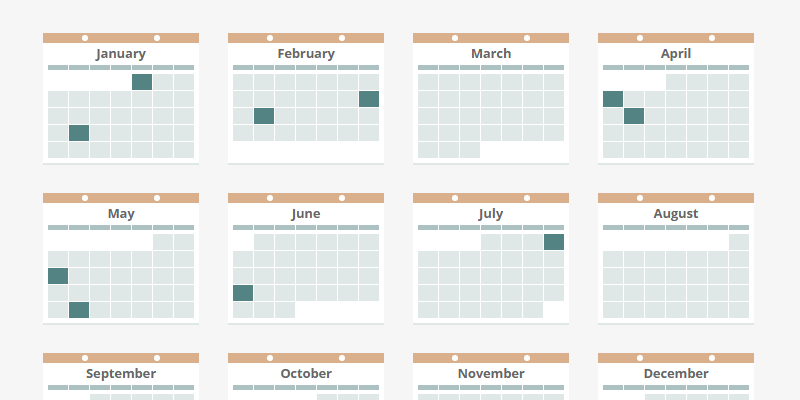 Calendar Design Html Css : Animated css javascript and html calendar bypeople