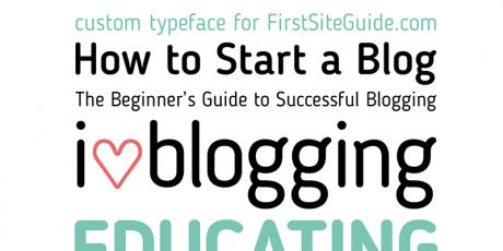 blogging writing sans serif typeface