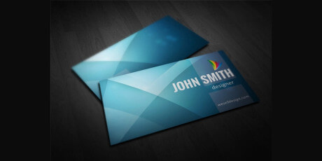free 5 colors minimal business card template