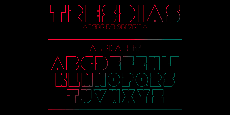 tresdias free futuristic sharp font   bypeople