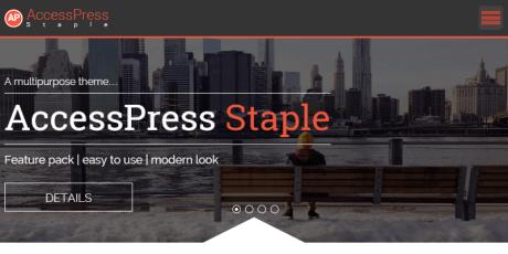 free minimal business wordpress theme