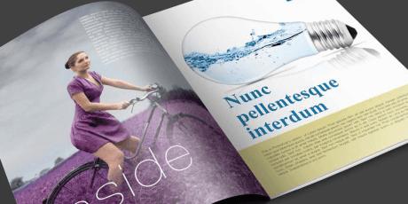 free multi page magazine mockup