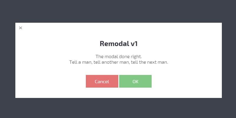 Remodal: Modal Window CSS and JavaScript Plugin