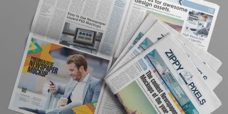 newspaper adverting psd printing mockups