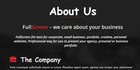onepage responsive business wordpress theme