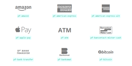 sleek payment webfont