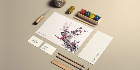 stationery art craft psd mockup