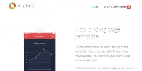 bootstrap app landing page template