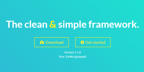 clean simple css framework