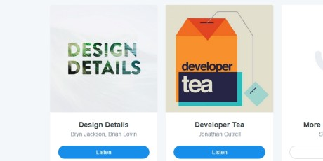 designers developers curated podcasts