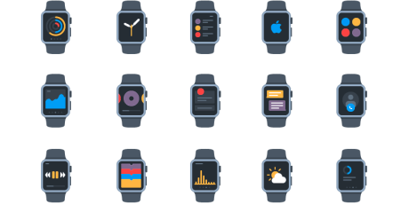 free apple watch icon pack