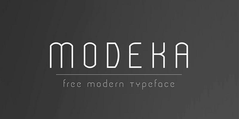 free modern typeface modeka