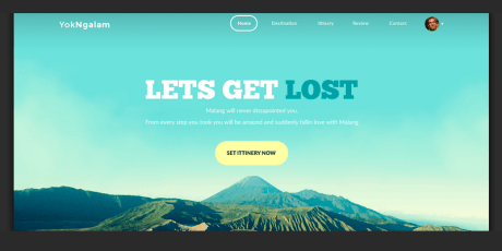 free one page psd template travelsite