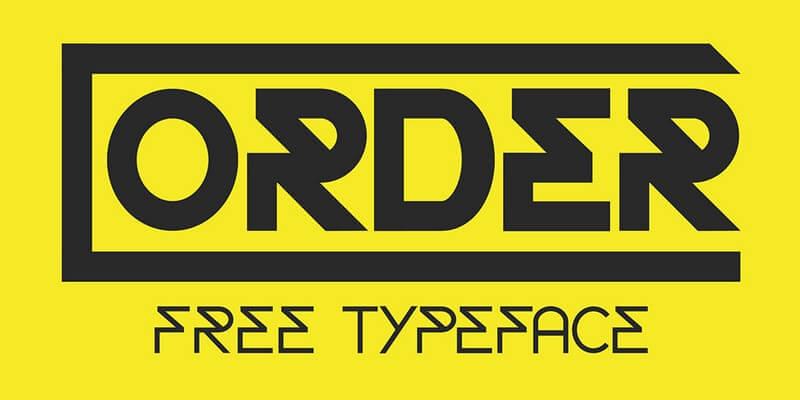 free sharp futuristic typeface