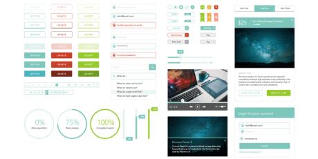 free sketch user interface kit persei