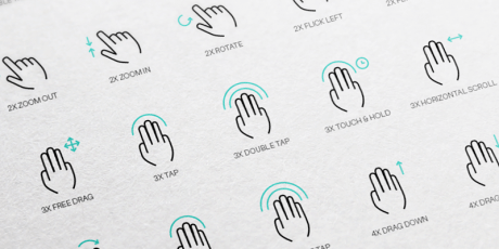 free vector gesture icons pack