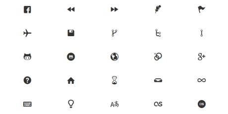 google web fonts like icons collection