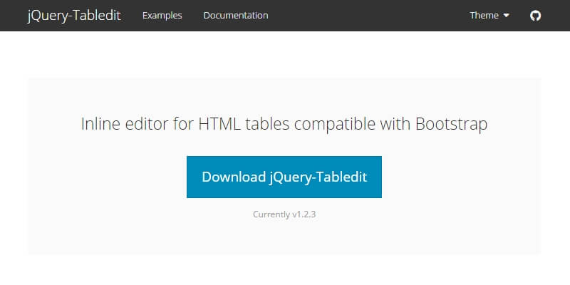 jQuery-Tabledit: Inline HTML Tables Editor   Bypeople
