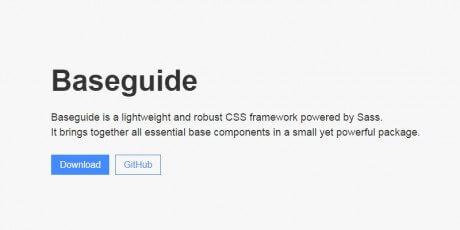 lightweight css framework baseguide