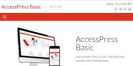 minimal business wordpress theme