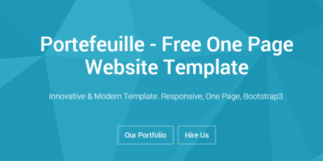 one page html css website template