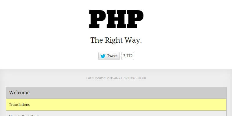PHP Best Practices Quick Reference