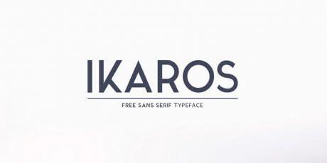 professional sans serif font ikaros