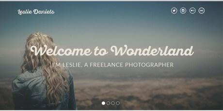 psd photographers portfolio page template