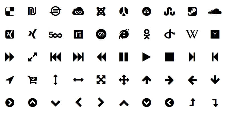 Sketch Font Awesome Symbols Library | Bypeople
