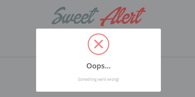 SweetAlert: Stylish CSS JavaScript Modal