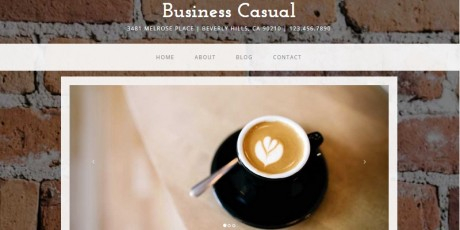 business casual full website theme bootstrap 3