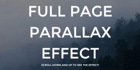 css parallax effect snippet