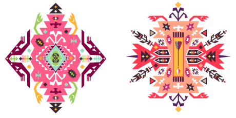 ethnic tribal designs vector pack