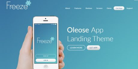 eye catching mobile bootstrap app landing page