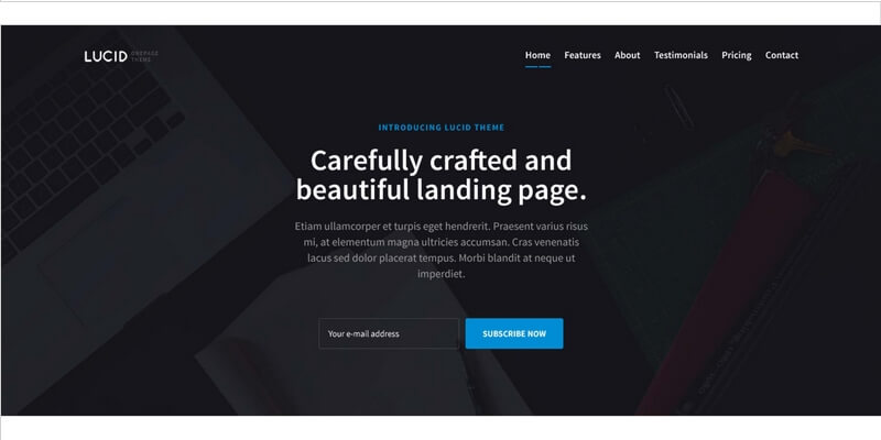Lucid Free Bootstrap Landing Page Template Bypeople - Bootstrap landing page template