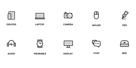 free outlined flat icons pack