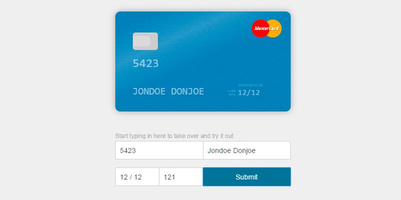 Card: HTML CSS Credit Card Visual Form