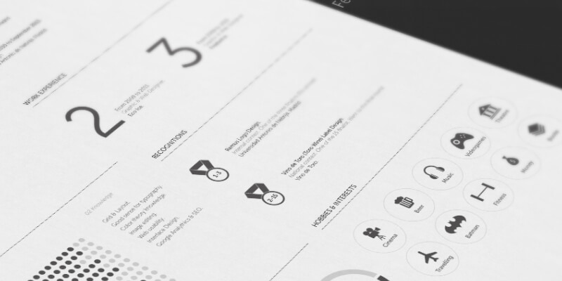 Free Icon-featured Resume Template