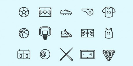 outline sports vector icons set