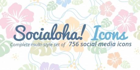social media icons set socialoha