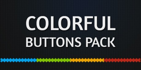 colorful ai psd buttons pack